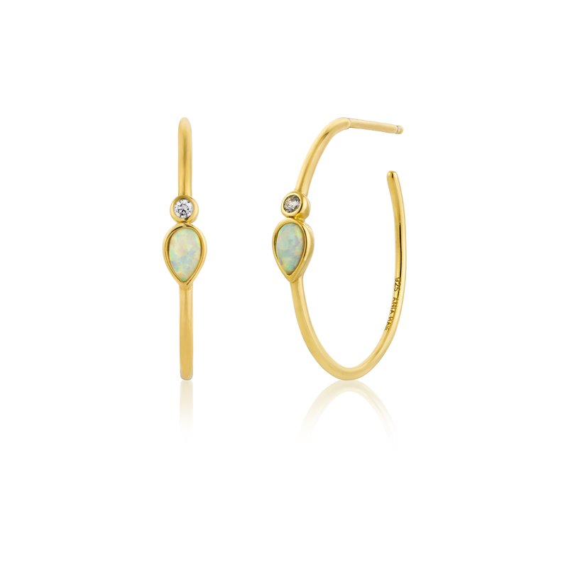 Ania Haie OPAL COLOUR RAINDROP HOOP EARRINGS