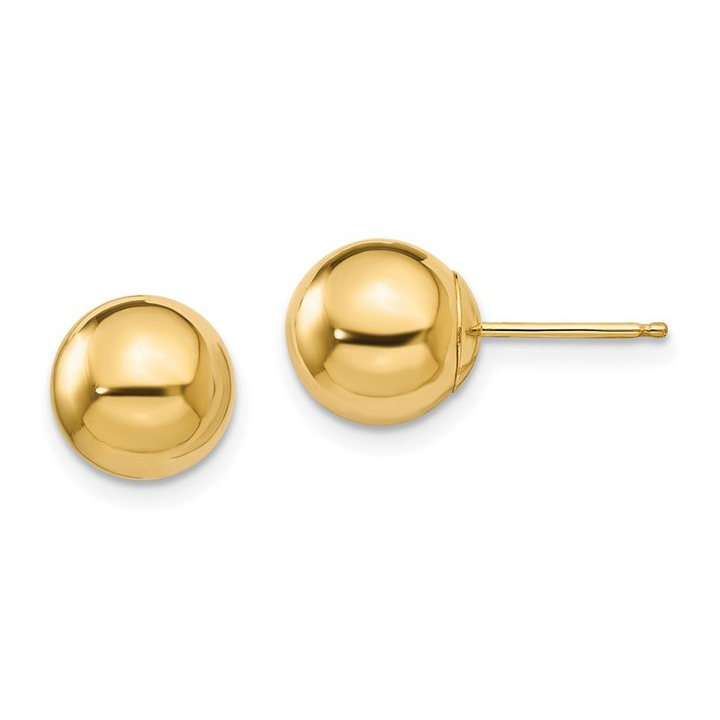 Quality Gold 14k Madi K Polished 8mm Ball Post Earrings