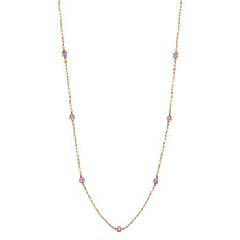 "Pink Sapphire ""By the Yard"" Chain"