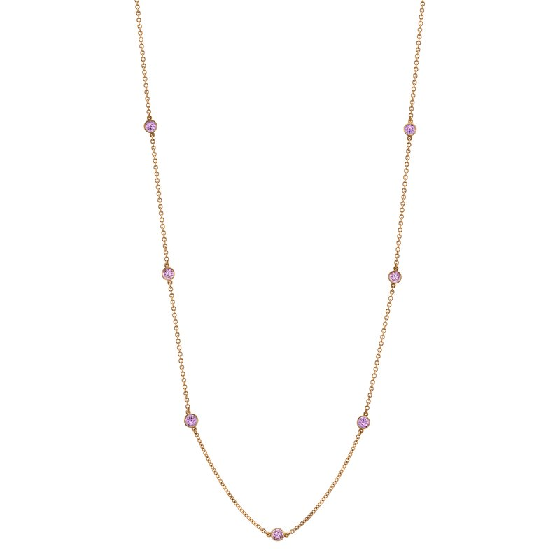 "Omi Prive Pink Sapphire ""By the Yard"" Chain"