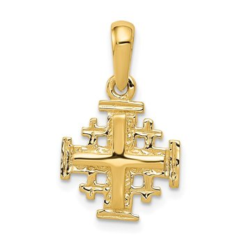 14k Jerusalem Cross Charm