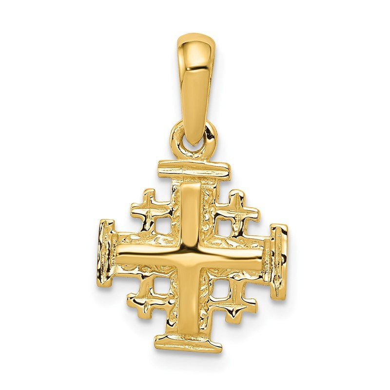 Quality Gold 14k Jerusalem Cross Charm