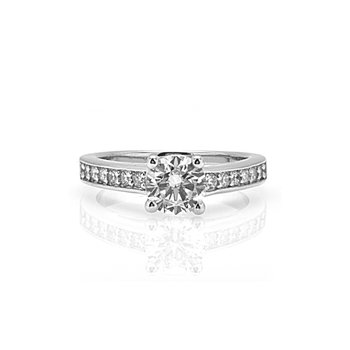 Milgrain Design Diamond Engagement Ring