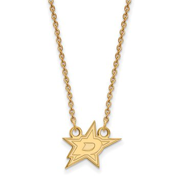 Gold Dallas Stars NHL Necklace