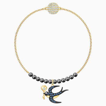 Swarovski Remix Collection Swallow Strand, Multi-colored, Gold-tone plated