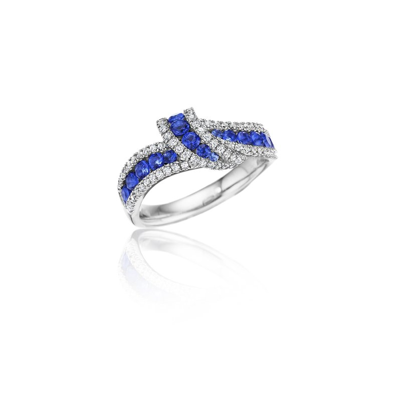 Wrap Me Up Sapphire and Diamond Twist Ring