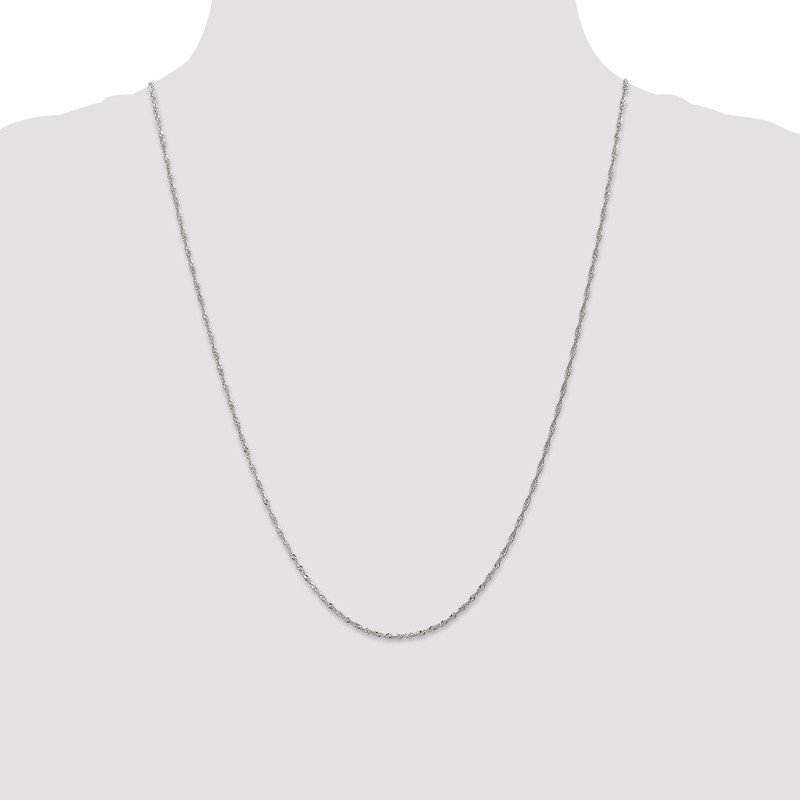 Leslie's Leslie's 14K White Gold 1.3mm Singapore Chain