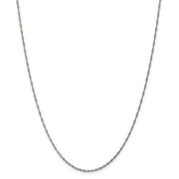 Leslie's 14K White Gold 1.3mm Singapore Chain