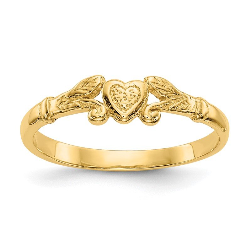 Quality Gold 14k Heart Baby Ring