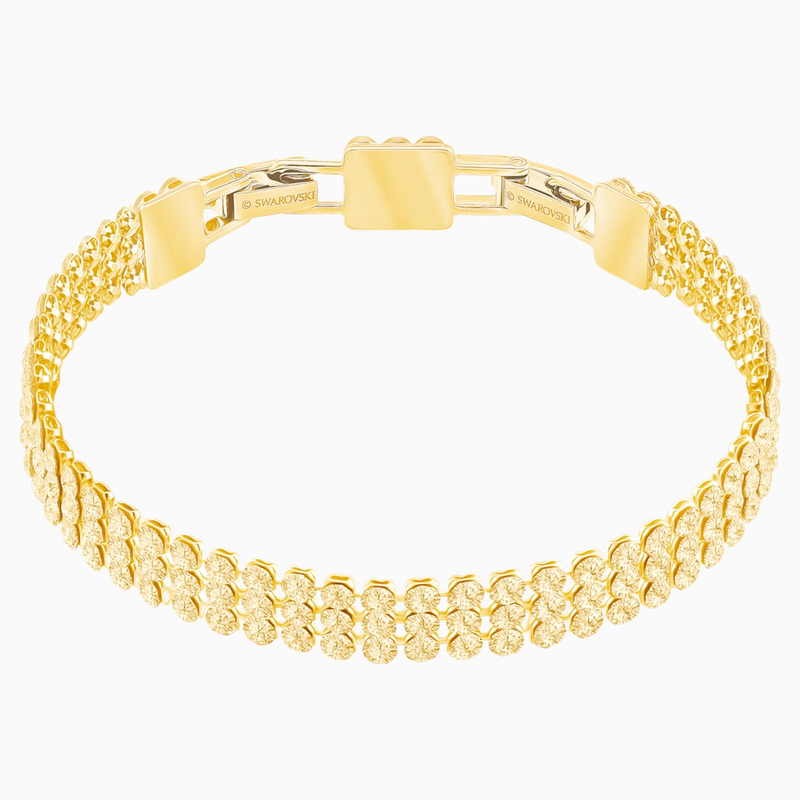 Swarovski Fit Bracelet, Golden, Gold-tone plated