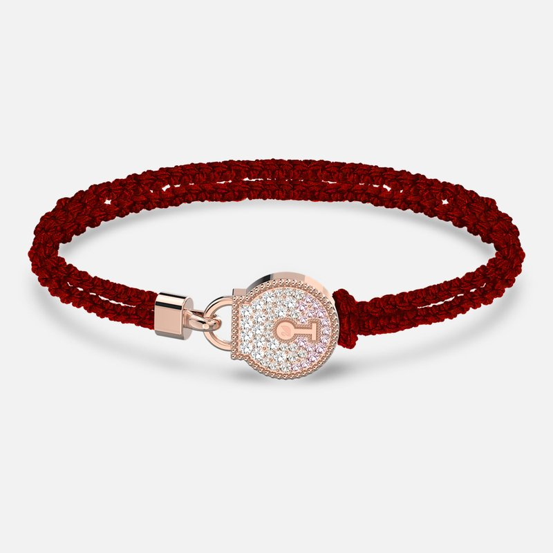 Swarovski Togetherness Lock Bracelet, Red, Rose-gold tone plated