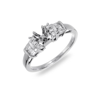 18K WG Diamond Engagement Ring (Semi Mount)