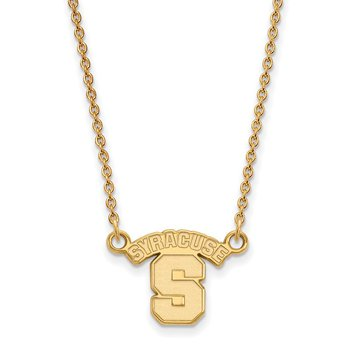 Gold-Plated Sterling Silver Syracuse University NCAA Necklace
