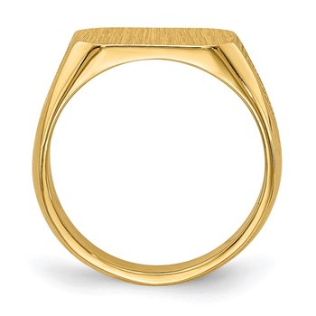 14k 10.0x5.5mm Closed Back Signet Ring