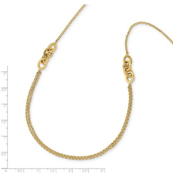 14K Diamond-Cut Multi-Strand Necklace