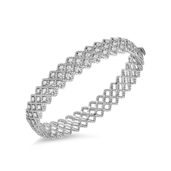 #19530 Of Three Row Diamond Bangle