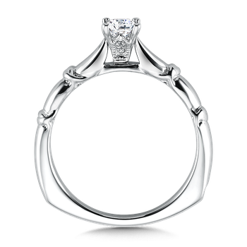 Solitaire mounting .01 tw., 1/3 ct. Princess center.