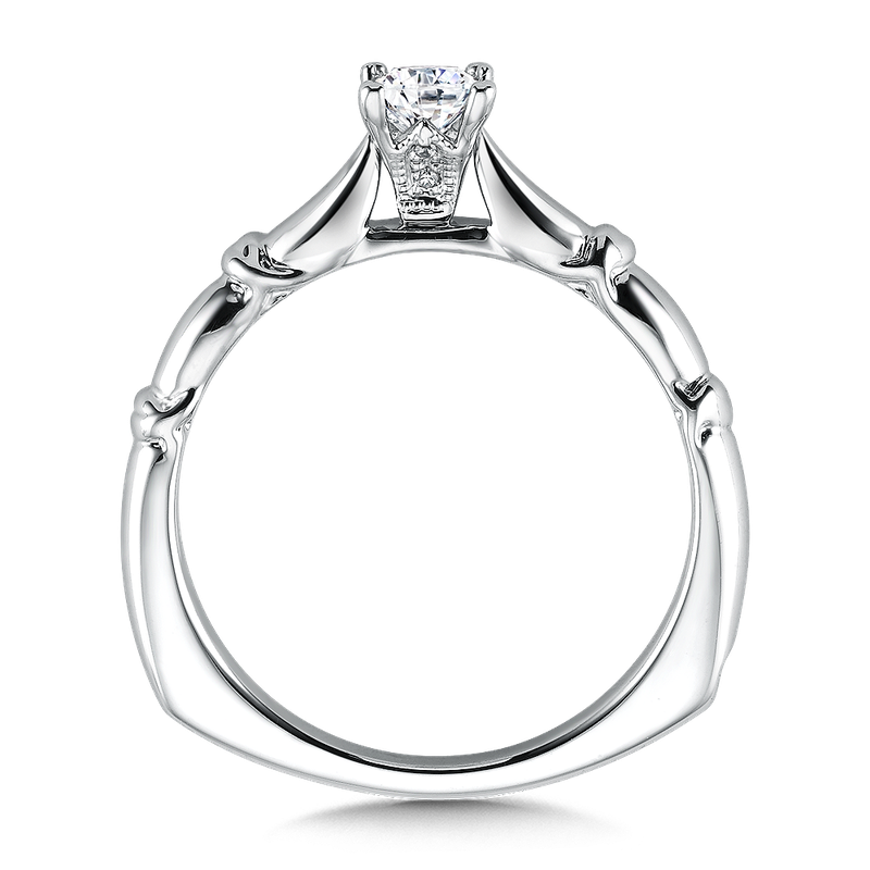 Valina Solitaire mounting .01 tw., 1/3 ct. Princess center.