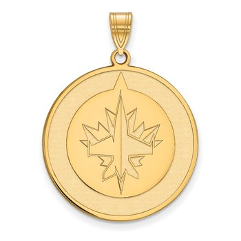 Gold-Plated Sterling Silver Winnipeg Jets NHL Pendant