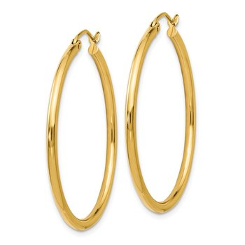 Leslie's 14K Polished 2mm Hoop Earrings