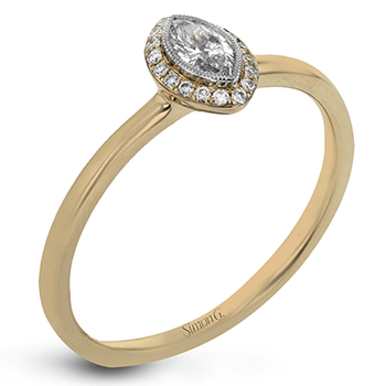 LR1170-MQ ENGAGEMENT RING