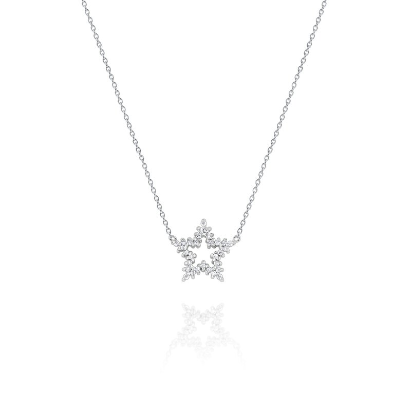 KC Designs Diamond Snowflake Pendant Set in 14 Kt. Gold