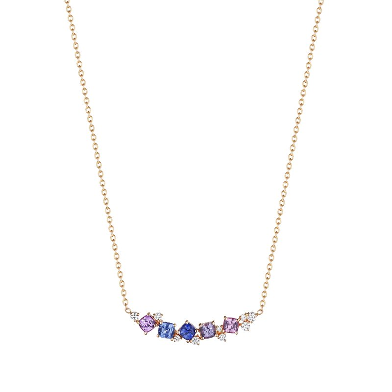 Penny Preville Watercolor Cluster Bar Necklace