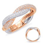 S. Kashi & Sons Bridal Rose & White Gold Diamond Fashion Ring
