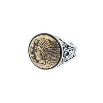 Liberty Headdress Signet Ring
