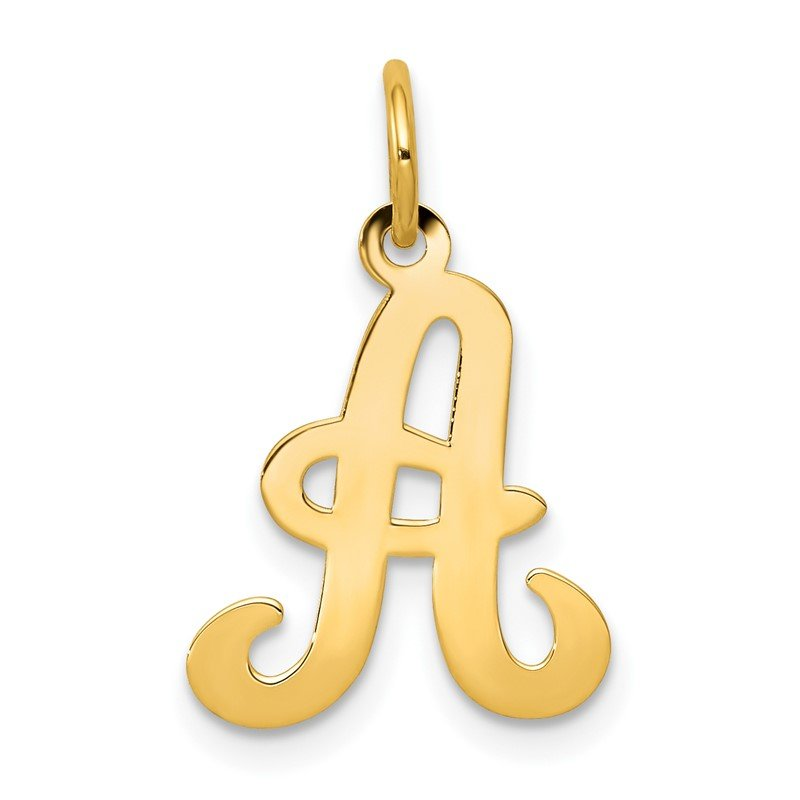 Quality Gold 14KY Script Letter A Initial Charm