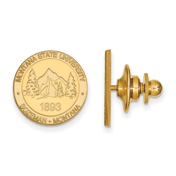 Gold Montana State University NCAA Lapel Pin