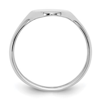 14k White Gold 19.5x9.5mm Closed Back Signet Ring
