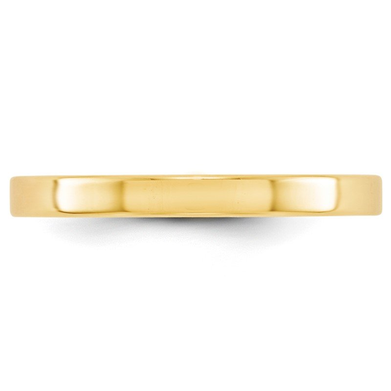 Quality Gold 14KY 2.5mm LTW Flat Band Size 10