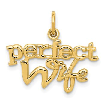 14k PERFECT WIFE Charm