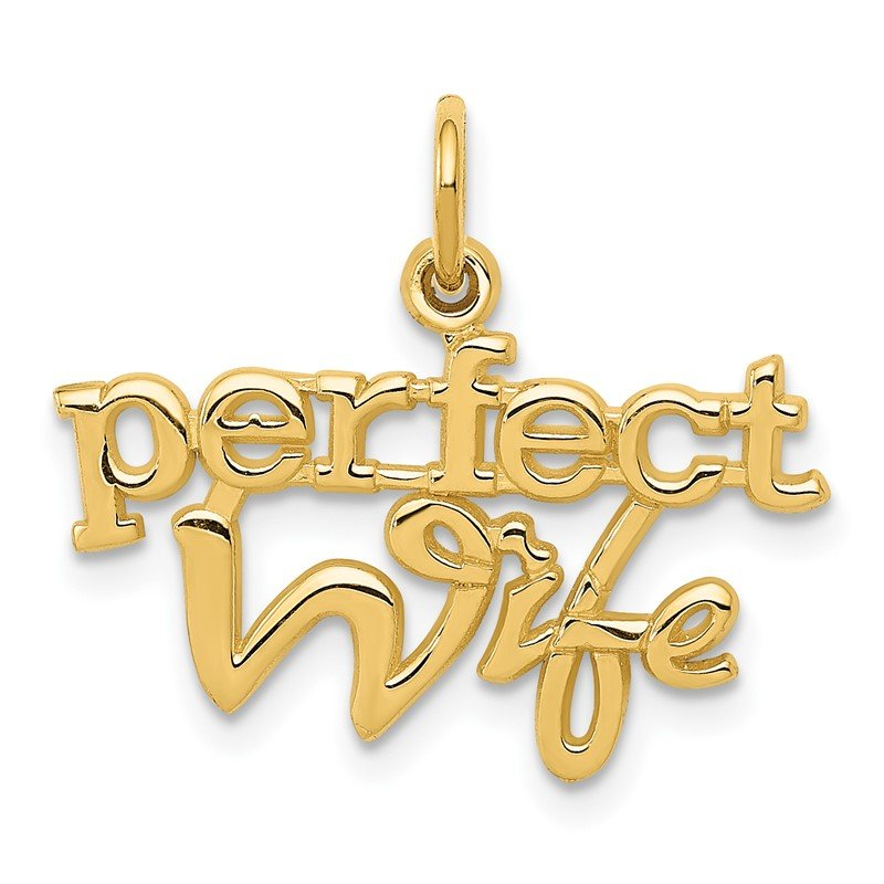 Quality Gold 14k PERFECT WIFE Charm