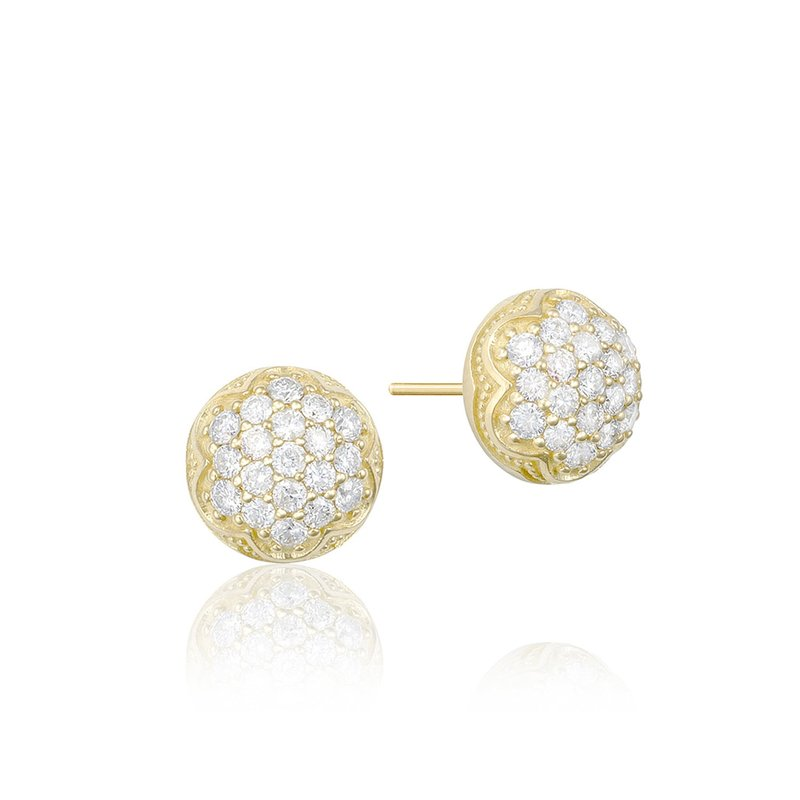 Tacori Fashion Dew Drop Stud featuring Pavé Diamonds