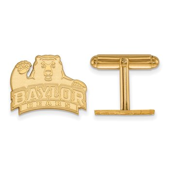 Gold-Plated Sterling Silver Baylor University NCAA Cuff Links