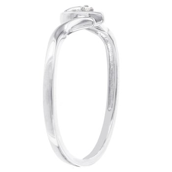 10K White Gold Open Heart Promise Ring