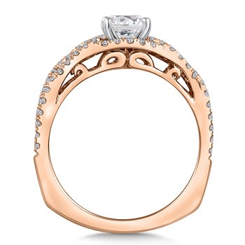 Diamond Engagement Ring Mounting in 14K Rose Gold (.46 ct. tw.)