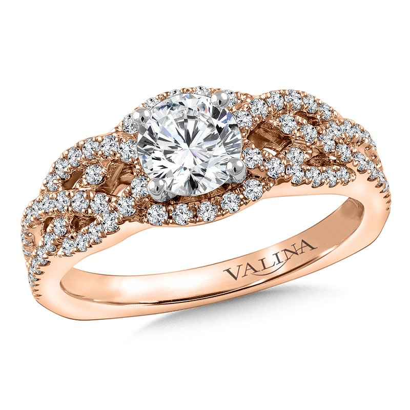 Valina Bridals Diamond Engagement Ring Mounting in 14K Rose Gold (.46 ct. tw.)