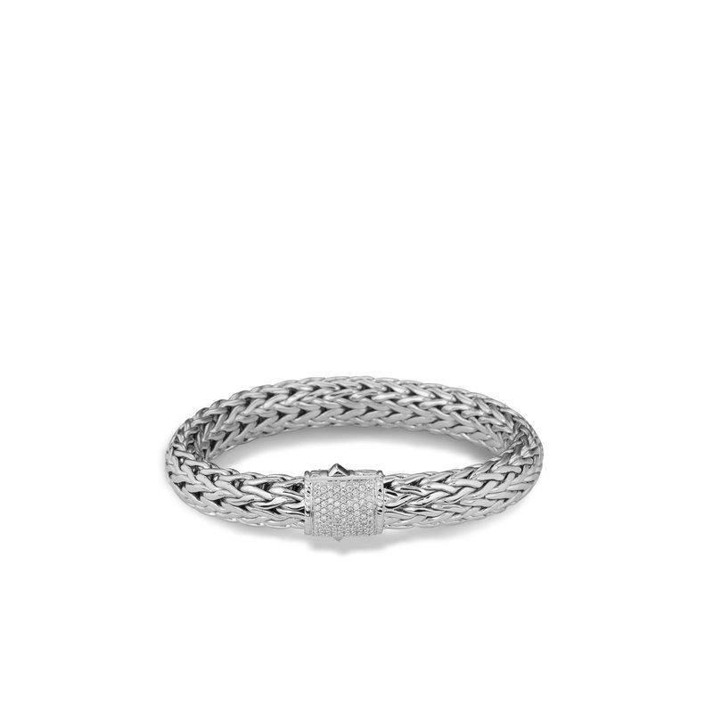 JOHN HARDY Classic Chain 10.5MM Bracelet in Silver with Diamonds