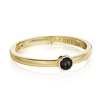 Gemstone Band Ring w/ Black Onyx