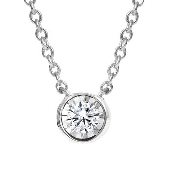 Bezel Diamond Pendant