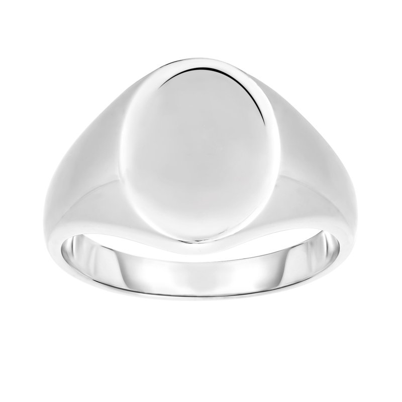 Royal Chain Silver Polished Oval Signet Ring