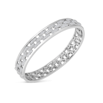 Bangle With Diamonds &Ndash; 18K White Gold