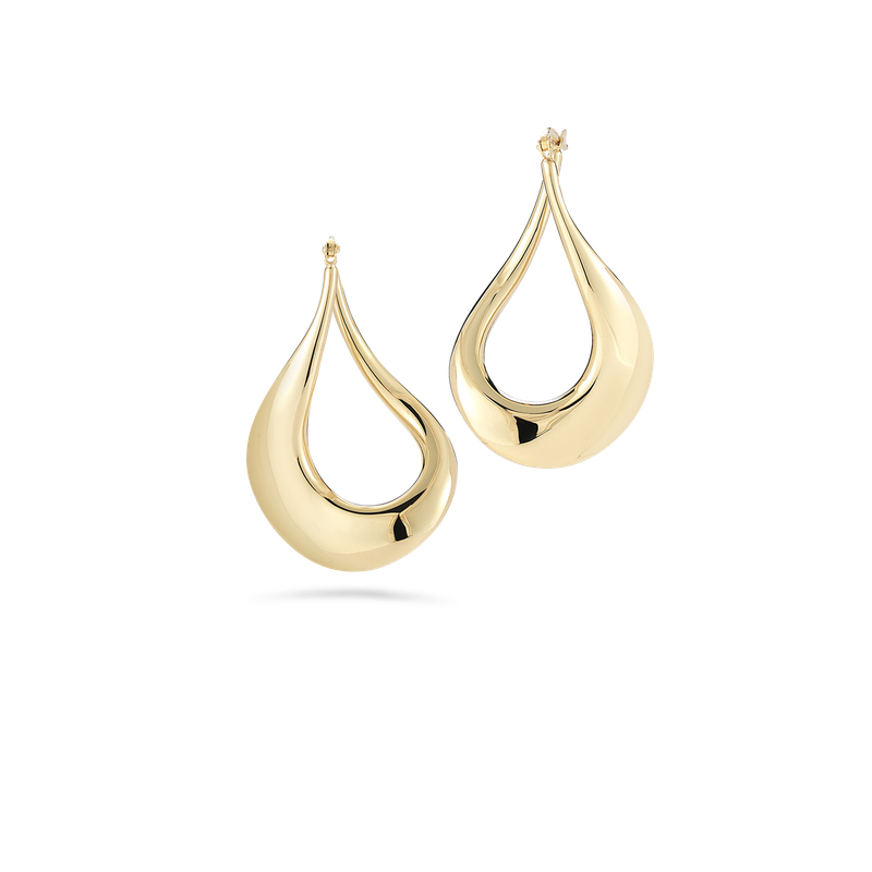 Roberto Coin 18Kt Gold Curved Hoop Earrings