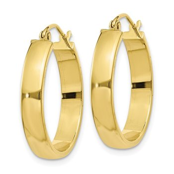 10k Polished Hoop Earring