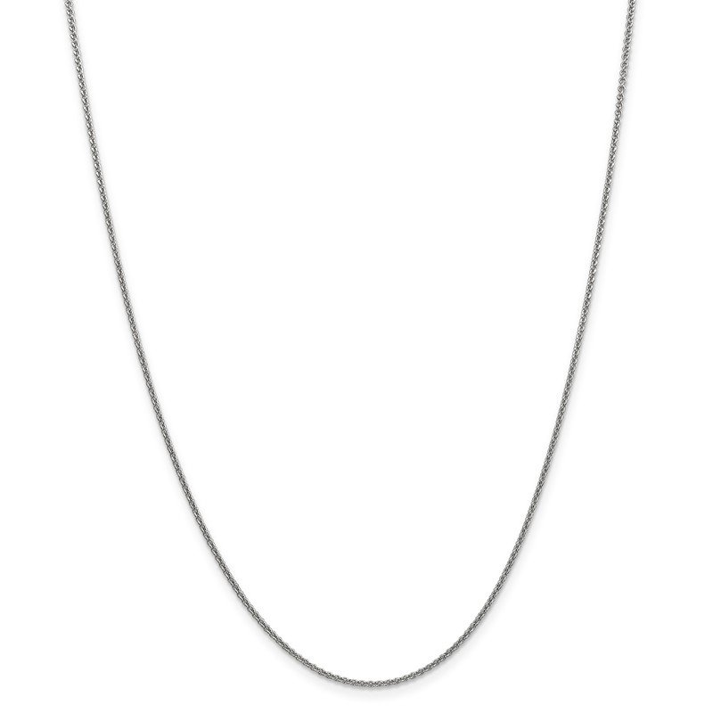 Leslie's Leslie's 14K White Gold 1.6 mm Round Cable Chain