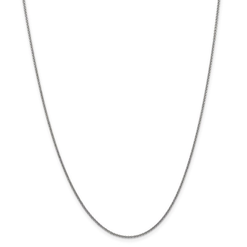 Leslie's Leslie's 14K White Gold 1.6mm Round Cable Chain
