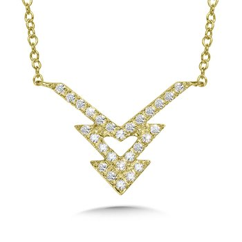 Triple Arrow Diamond Necklace